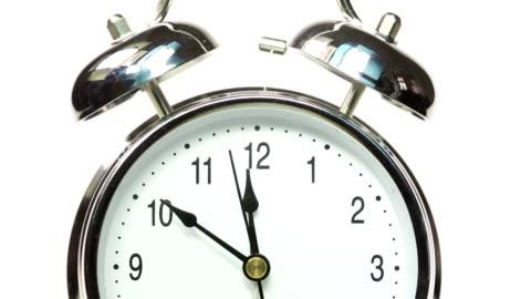 alarm clock - minute hand stock videos & royalty-free footage
