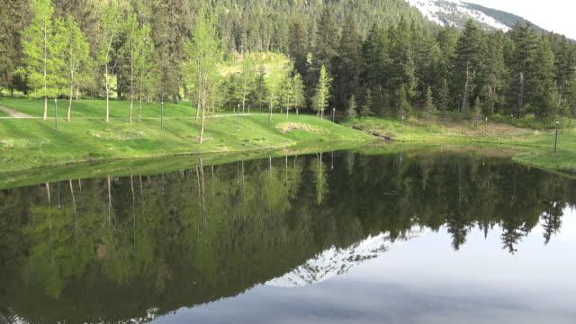 Alaska Alyeska mountain reflected in pond