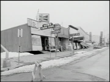[alaska earthquake damage] - 35 of 36 - 1964 stock videos & royalty-free footage