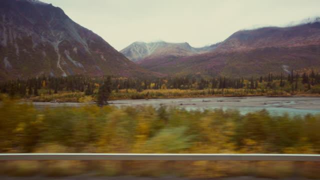 alaska road - denali national park stock videos & royalty-free footage