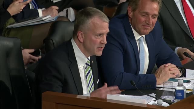Alaska Senator Dan Sullivan questions Facebook CEO Mark Zuckerberg at a joint hearing on data privacy whether the social media company is too...