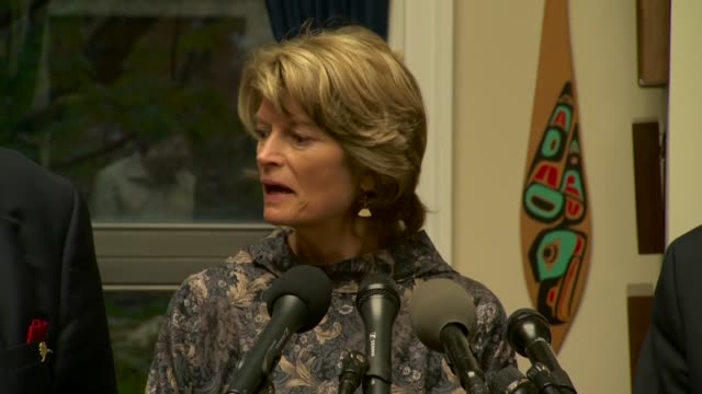 alaska senator lisa murkowski says after a 7.0 earthquake near anchorage that alaskans are resilient despite a bad reputation for more earthquakes... - anchorage alaska stock videos & royalty-free footage