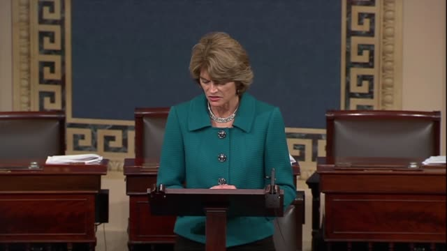 alaska senator lisa murkowski says in debate on confirming judge brett kavanaugh to the supreme court that she could not support a cloture motion on... - nominee stock videos & royalty-free footage