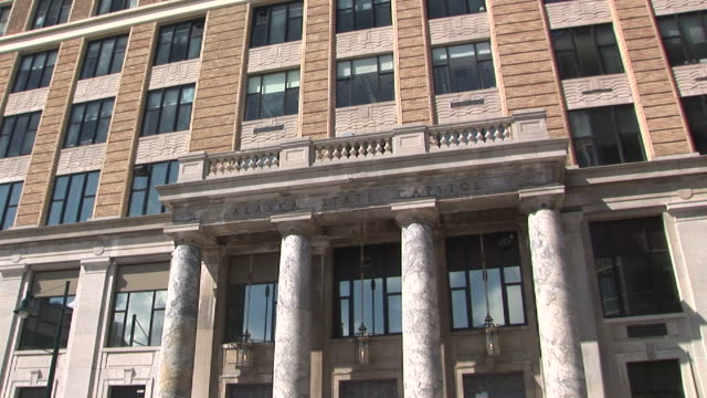 ms, zi, alaska state capitol building, juneau, alaska, usa - juneau stock videos and b-roll footage
