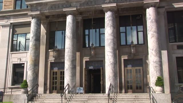 ms, tu, alaska state capitol building, juneau, alaska, usa - juneau stock videos and b-roll footage