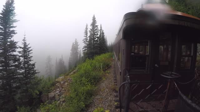 usa, alaska, train near juneau, white pass and yukon route railroad. skagway - juneau stock videos and b-roll footage