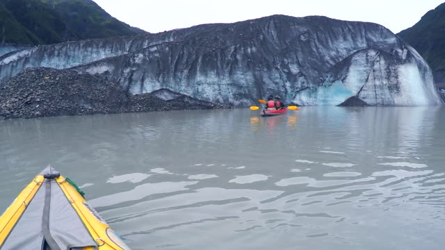 usa, alaska, valdez glacier lake, kayaking - prince william sound stock videos and b-roll footage