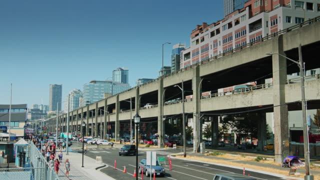 alaskan way, seattle - urban road stock videos & royalty-free footage