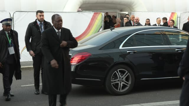 alassane ouattara - ivory coast's president at o2 waterview on january 20, 2020 in london, england. - リアリティー番組点の映像素材/bロール