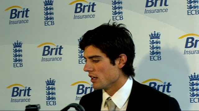 Alastair Cook interview on taking on England captaincy role Alastair Cook press conference SOT Without a doubt this is a six week block / Hopefully...