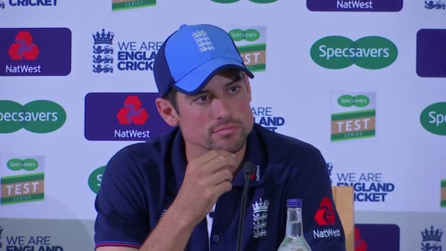alastair cook press conference; england: london: lambeth: kennington: the oval: int alastair cook press conference sot. - oval kennington stock videos & royalty-free footage