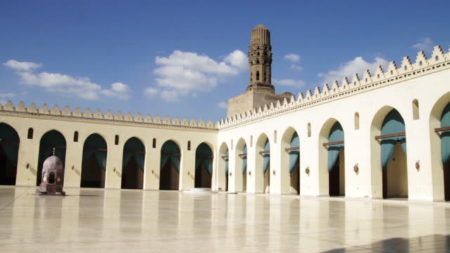 al-azhar mosque courtyard - courtyard stock videos & royalty-free footage