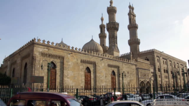 al-azhar mosque exterior - moské bildbanksvideor och videomaterial från bakom kulisserna