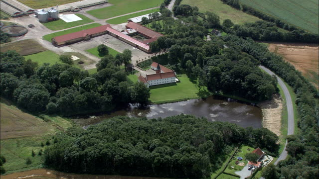 albaek  - aerial view - north denmark,  frederikshavn kommune,  denmark - sports period stock videos & royalty-free footage