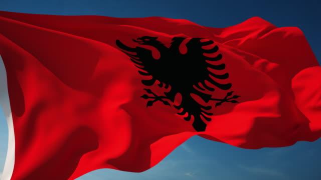 Albania Flag - Loopable