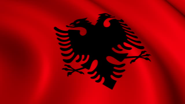 Albanien Flagge Endlos wiederholbar