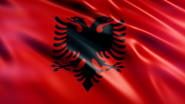 albanien flagge - vignettierung stock-videos und b-roll-filmmaterial