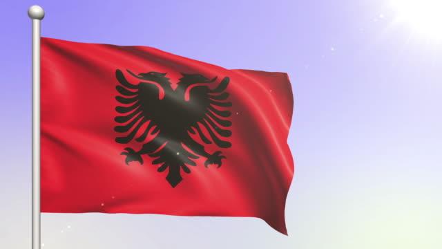 Albania Flag (Loopable)