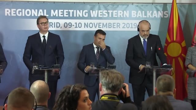 albania north macedonia and serbia discuss setting up a common market at a summit weeks after the european union snubbed bids by skopje and tirana to... - tirana stock videos & royalty-free footage
