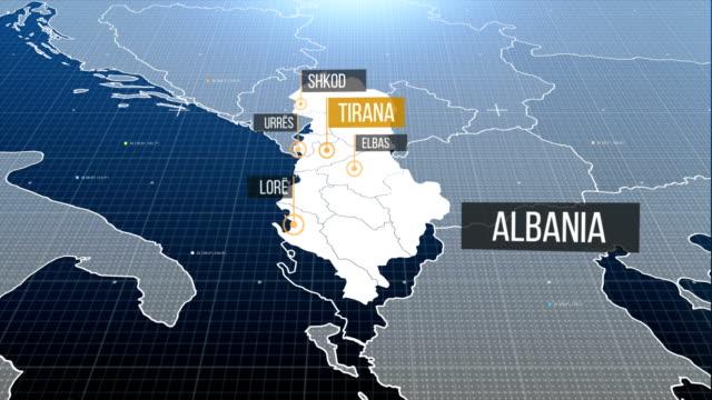 albanian map - albania stock videos & royalty-free footage