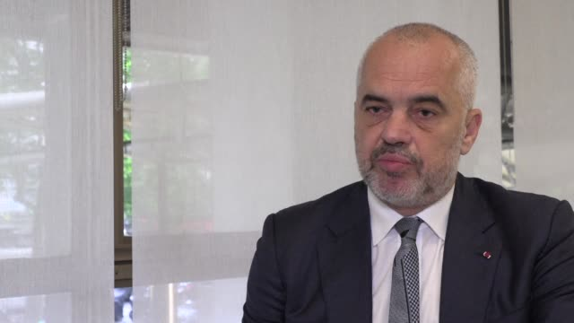 albanian prime minister edi rama says his country deserves eu membership which is vital both for the balkans and europe - governmental occupation stock videos & royalty-free footage