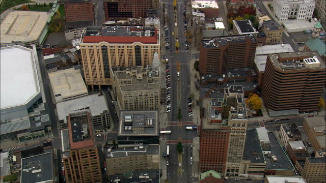 albany - aerial view - new york,  albany county,  united states - albany new york state stock videos & royalty-free footage
