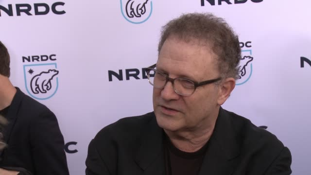interview albert brooks on why he wanted to support the nrdc at nrdc stand up for the planet la 2017 in los angeles ca - national resources defense council stock videos & royalty-free footage
