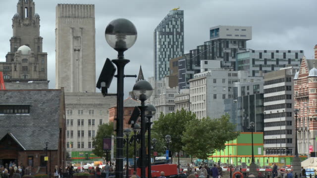 MS, PAN, Albert Dock and Royal Liver Building, Liverpool, England