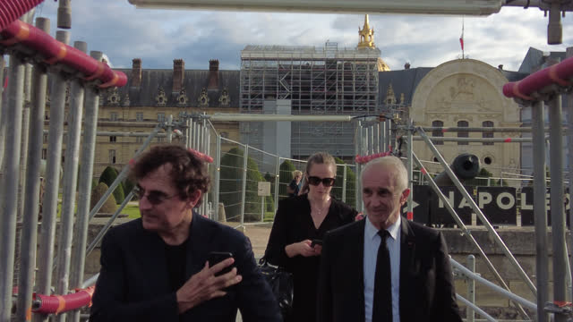 FRA: National Tribute To Jean-Paul Belmondo At Les Invalides In Paris