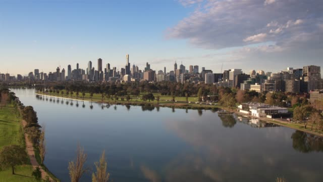 albert park, melbourne city, victoria, australia - skyline stock videos & royalty-free footage