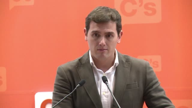 Albert Riviera leader of Spain's Centrist party Ciudadanos says the situation is serious after Catalonia elects a new leader tasked with breakaway...