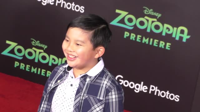 vidéos et rushes de albert tsai at the zootopia premiere at el capitan theatre in hollywood celebrity sightings on february 17 2016 in los angeles california - cinéma el capitan