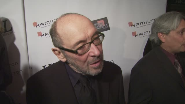 albert wolsky on being honored working with kate winslet and leonardo dicaprio on revolutionary road at the behind the camera awards at los angeles ca - kate winslet stock-videos und b-roll-filmmaterial