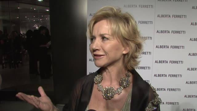alberta ferretti on opening a store in la designing for celebrities her fashion philosophy at the alberta ferretti celebrates first us flagship store... - philosophy stock videos & royalty-free footage
