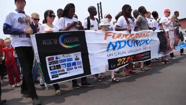 Albinos gather in the Democratic Republic of Congo's capital Kinshasa for a first of its kind festival to celebrate a minority that suffers rampant...
