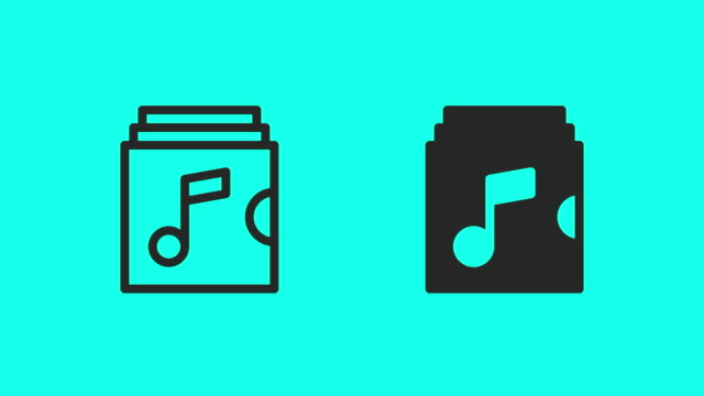 album release icons - vector animate - global communications vector stock videos & royalty-free footage