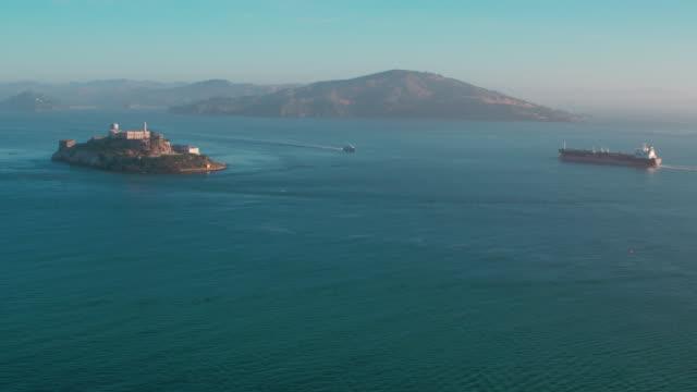 アルカトラズ島航空写真 - アルカトラズ島点の映像素材/bロール