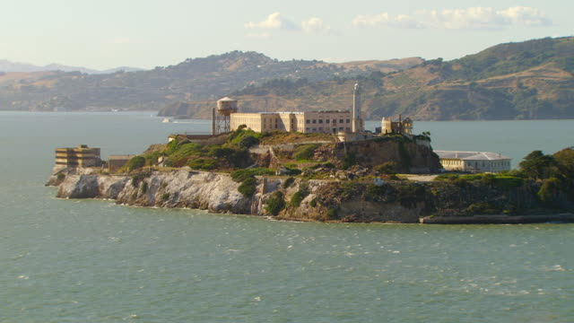 WS DS AERIAL Alcatraz Island and prison complex / San Francisco, California, United States
