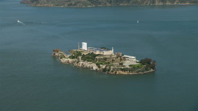 Alcatraz Island, or The Rock as it is sometimes called. Alcatraz, the site of an abandoned federal prison, is a popular tourist destination for visitors to San Francisco.