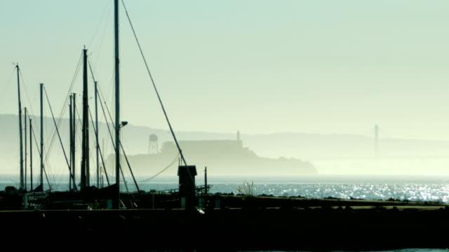 アルカトラズ島、サンフランシスコ - アルカトラズ島点の映像素材/bロール