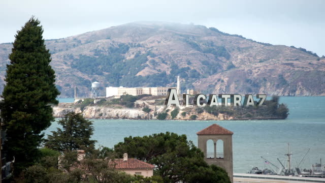 Alcatraz with 3-D Text