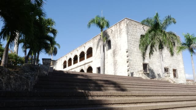 alcazar de colon in santo domingo, dominikanische republik - kolonialstil stock-videos und b-roll-filmmaterial