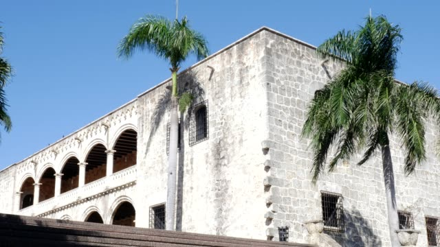 alcazar de colon in santo domingo, dominican republic - santo domingo dominican republic stock videos & royalty-free footage