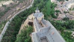 Alcazar de Segovia from Aerial View