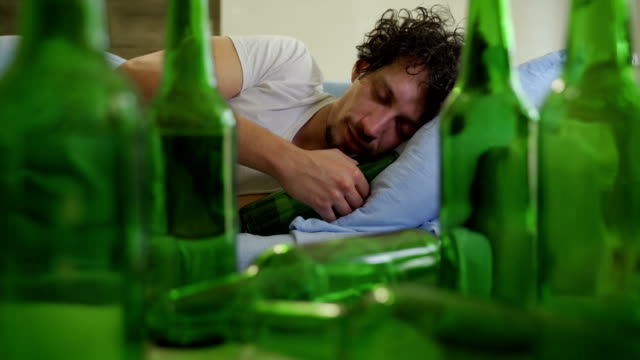 alcohol addict - alcohol abuse stock videos & royalty-free footage