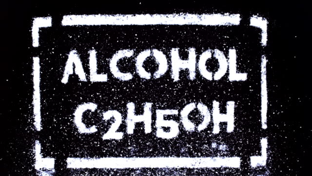alcohol inscription - drawing artistic product stock videos & royalty-free footage