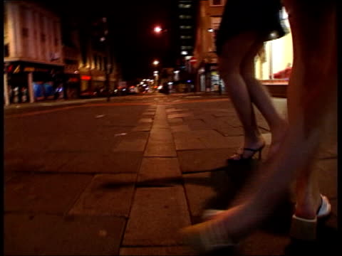 incidents rising lib england newcastle legs of women as unsteadily along street gv drunk people dancing outside bar - newcastle upon tyne stock videos and b-roll footage