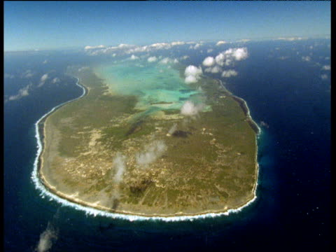 aldabra atoll surrounded by dark blue sea, seychelles - seychelles stock videos & royalty-free footage