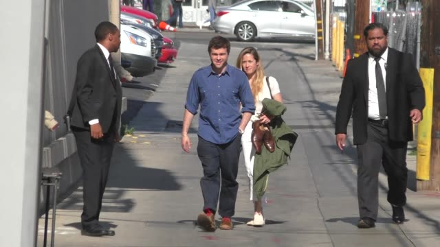 Alden Ehrenreich arrives at Jimmy Kimmel Live at El Capitan Theater in Hollywood in Celebrity Sightings in Los Angeles
