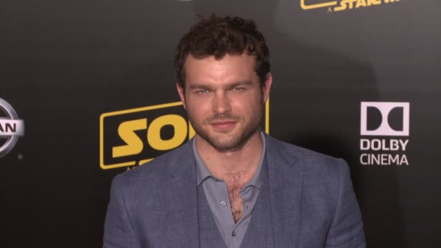Alden Ehrenreich at the 'Solo A Star Wars Story' World Premiere at the El Capitan Theatre on May 10 2018 in Hollywood California